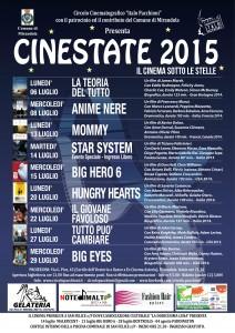 Locandina A5 Cinestate 2015 Mirandola